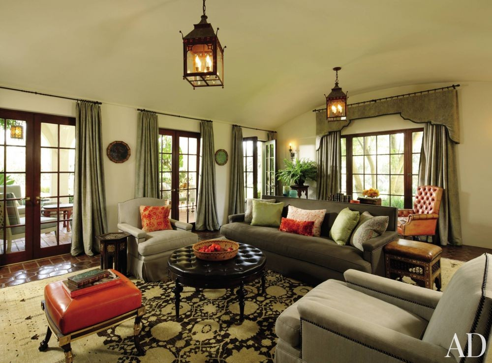 Traditional Living Room by Windsor Smith and Marc Appleton in Los Angeles, California