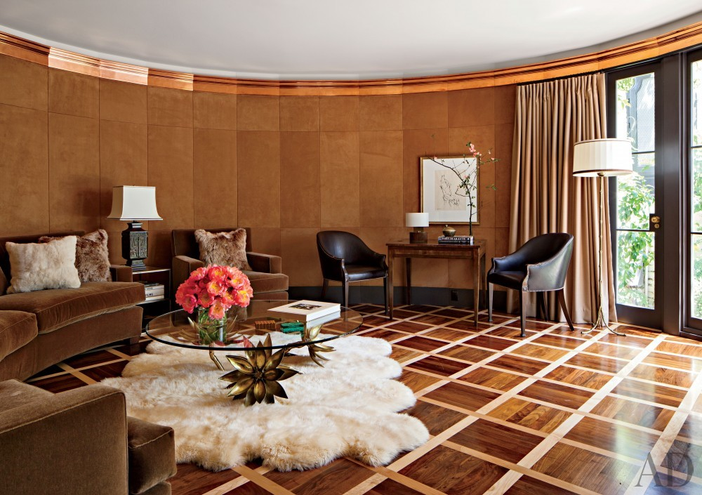 Traditional Media/Game Room by Madeline Stuart & Associates in Los Angeles, California