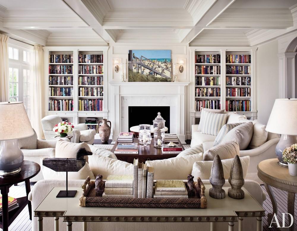 Traditional Office/Library by Alexa Hampton in Bridgehampton, NY