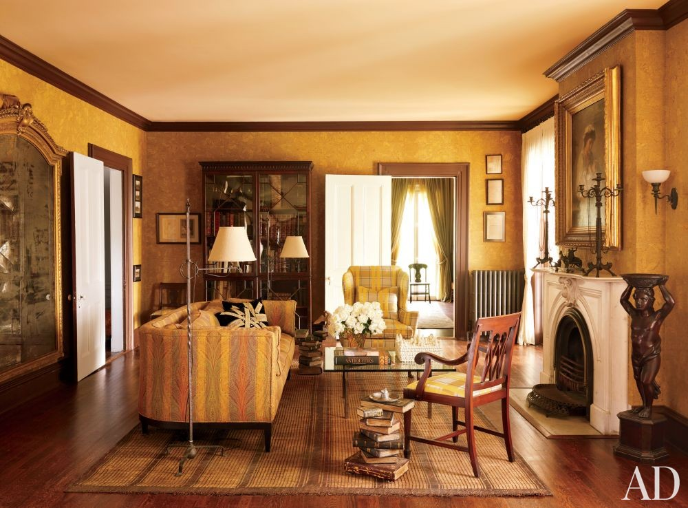 Traditional Office/Library by Alison Spear in Dutchess County, New York