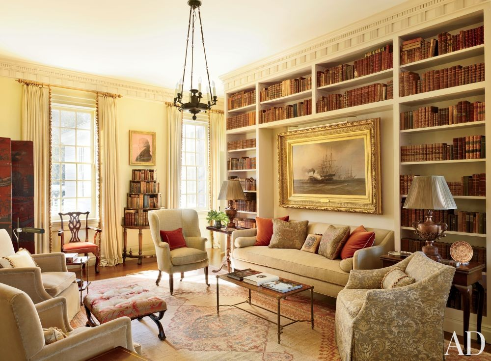 Traditional Office/Library by Amelia T. Handegan Inc. and Tidewater Preservation Inc. in Rappahannock Valley, Virginia
