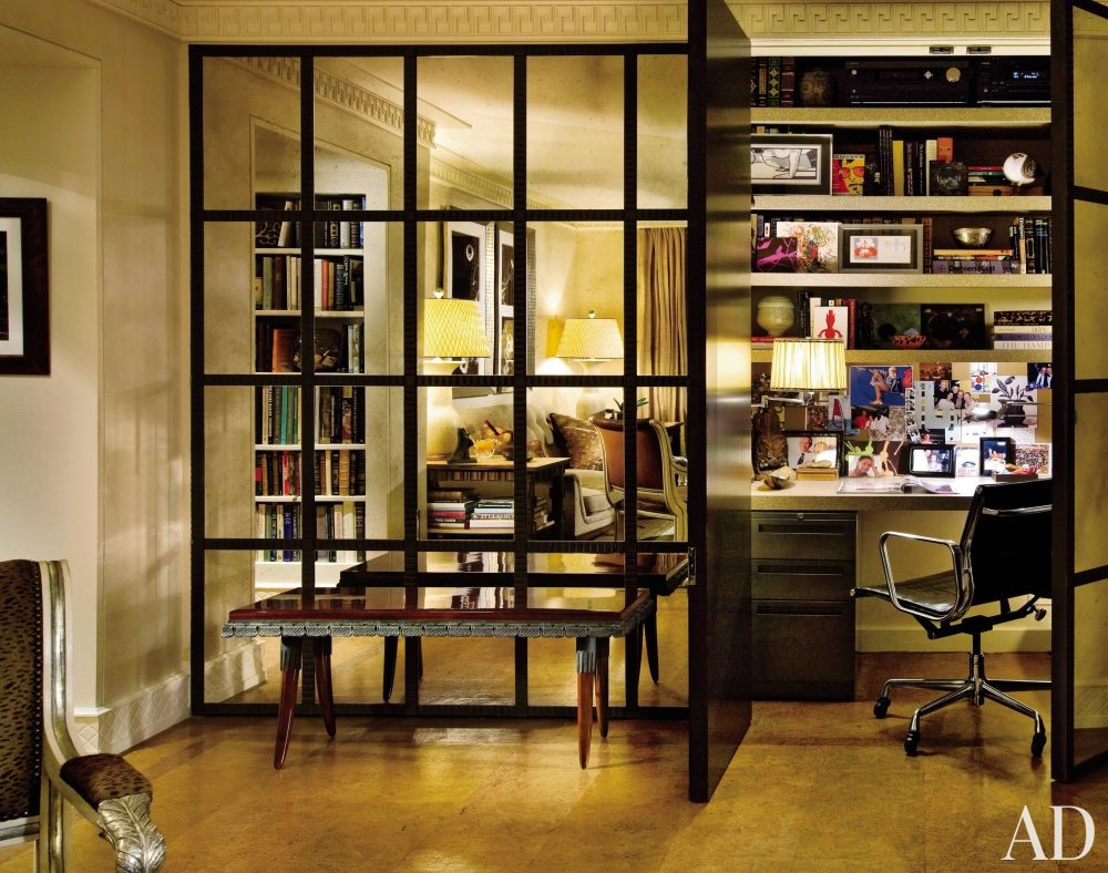 Traditional Office/Library by Arthur Dunnam in New York City