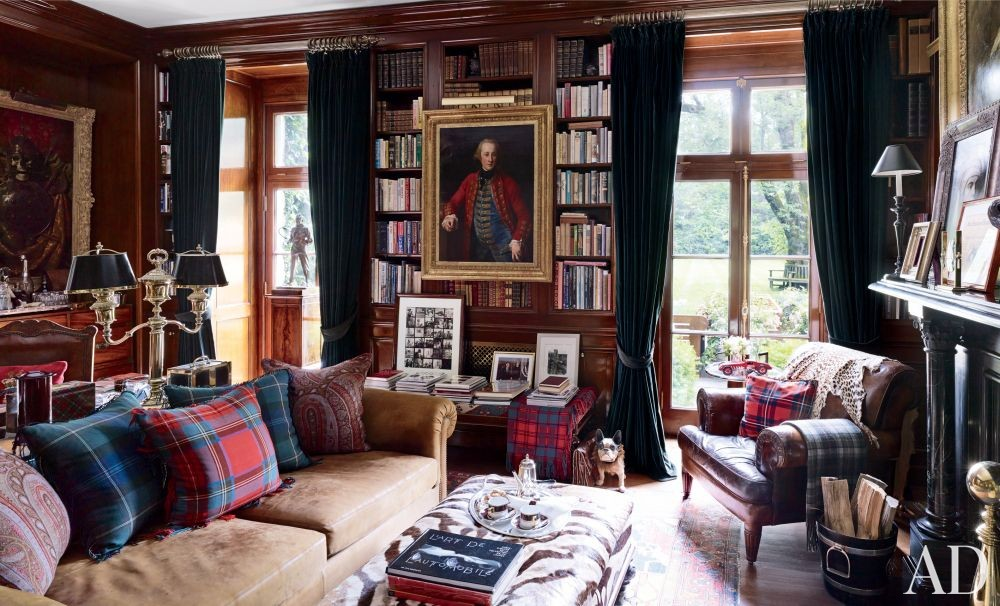 Traditional Office/Library in Bedford, New York