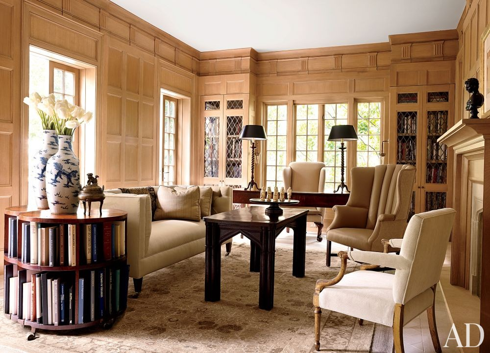 Traditional Office/Library by Darryl Carter Inc. and Donald Lococo Architects in Washington, D.C.