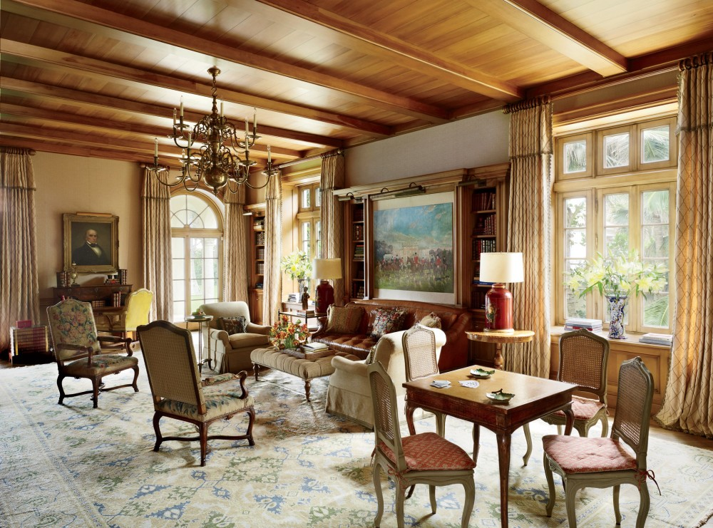 Traditional Office/Library by David Easton Inc. and Addison Mizner in Palm Beach, FL