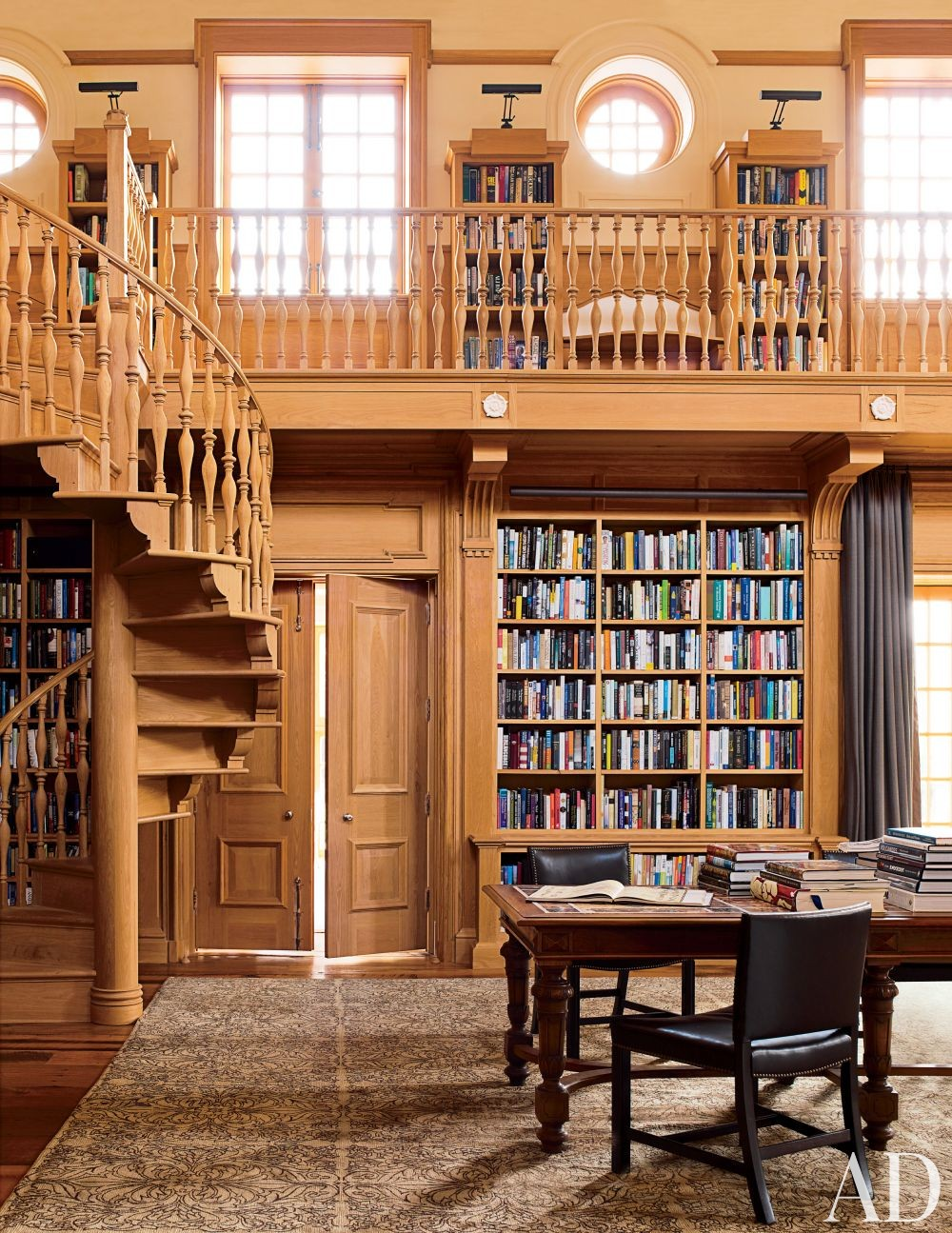 Traditional office library by david kleinberg design associates by architectural digest ad Traditional home library design ideas