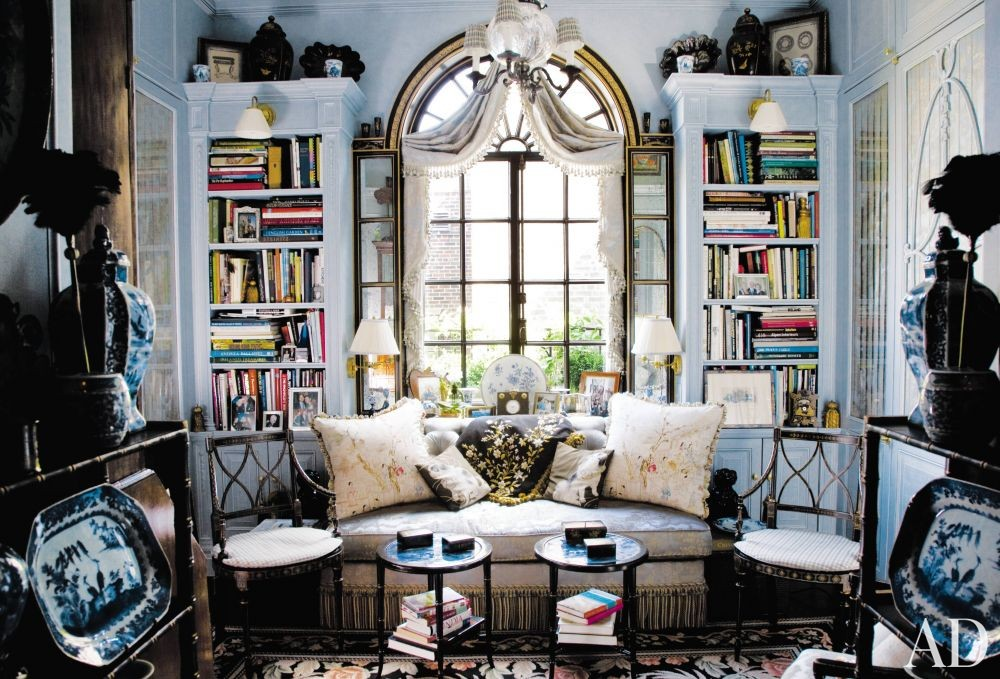 Traditional Office/Library by Friederike Kemp Biggs and George W. Sweeney in New York, New York