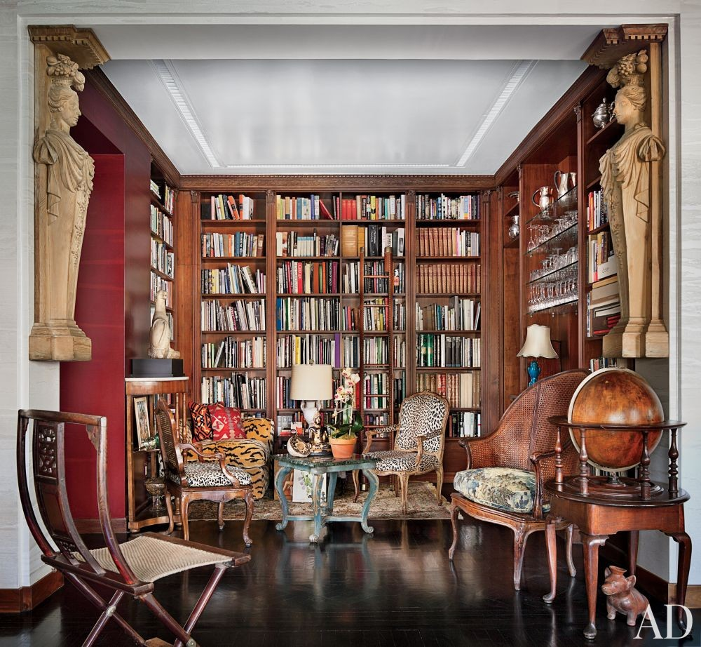 Traditional Office/Library by John Yunis Ltd. and Cicognani Kalla Architect in New York, New York