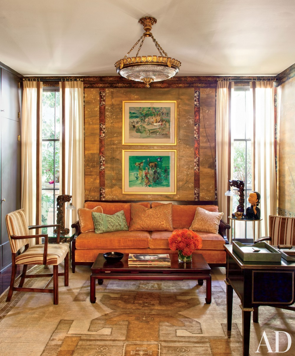 Traditional Office/Library by Madeline Stuart & Associates in Los Angeles, California