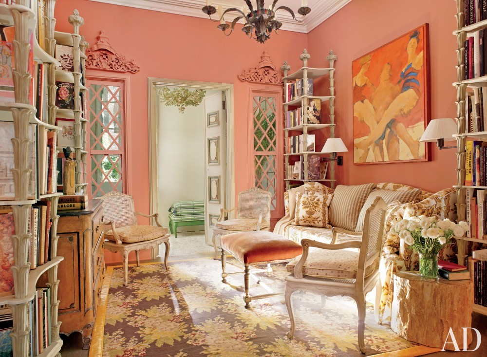 Traditional Office/Library by Nicky Haslam in New Orleans, LA