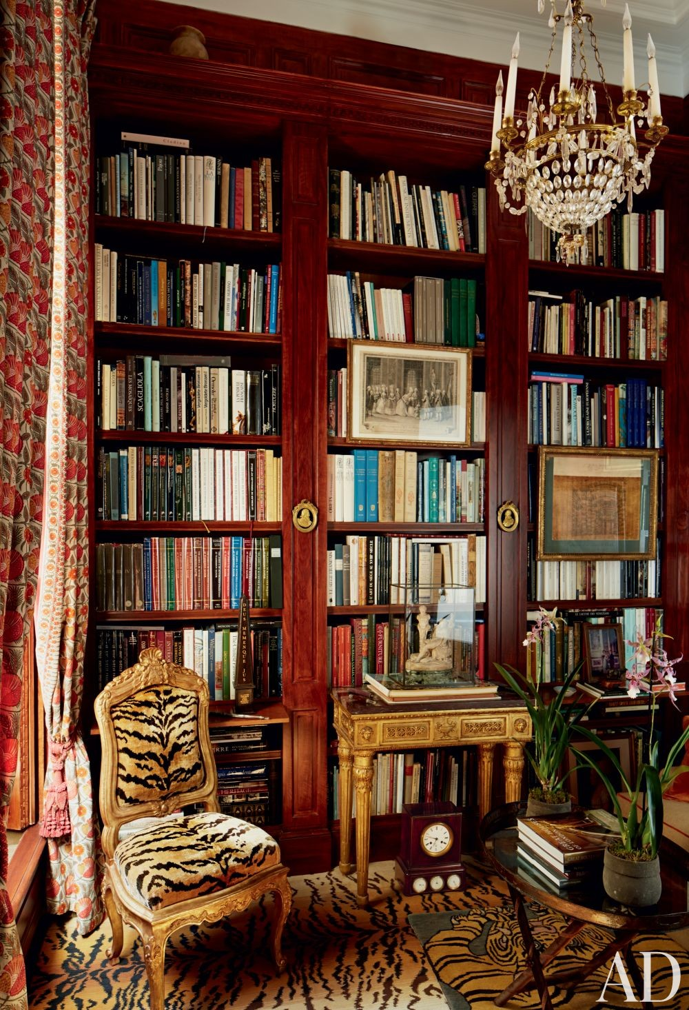Traditional Office/Library in Paris, France