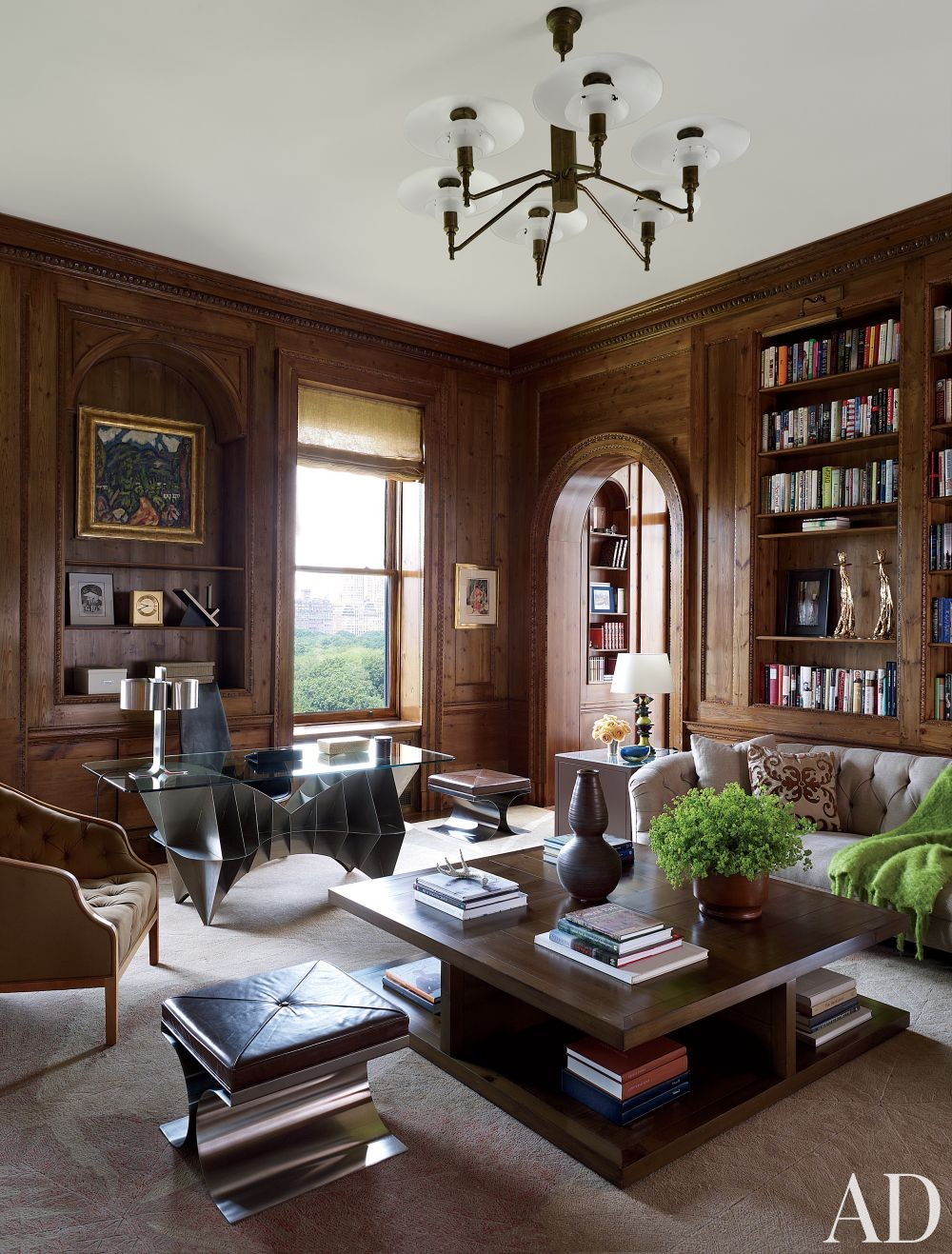 Traditional Office Library By Shelton Mindel Associates