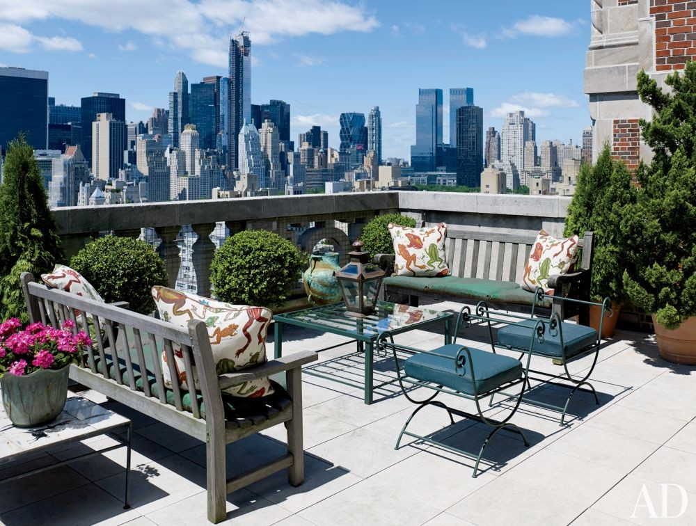 Traditional Outdoor Space by Rain Phillips in New York, New York