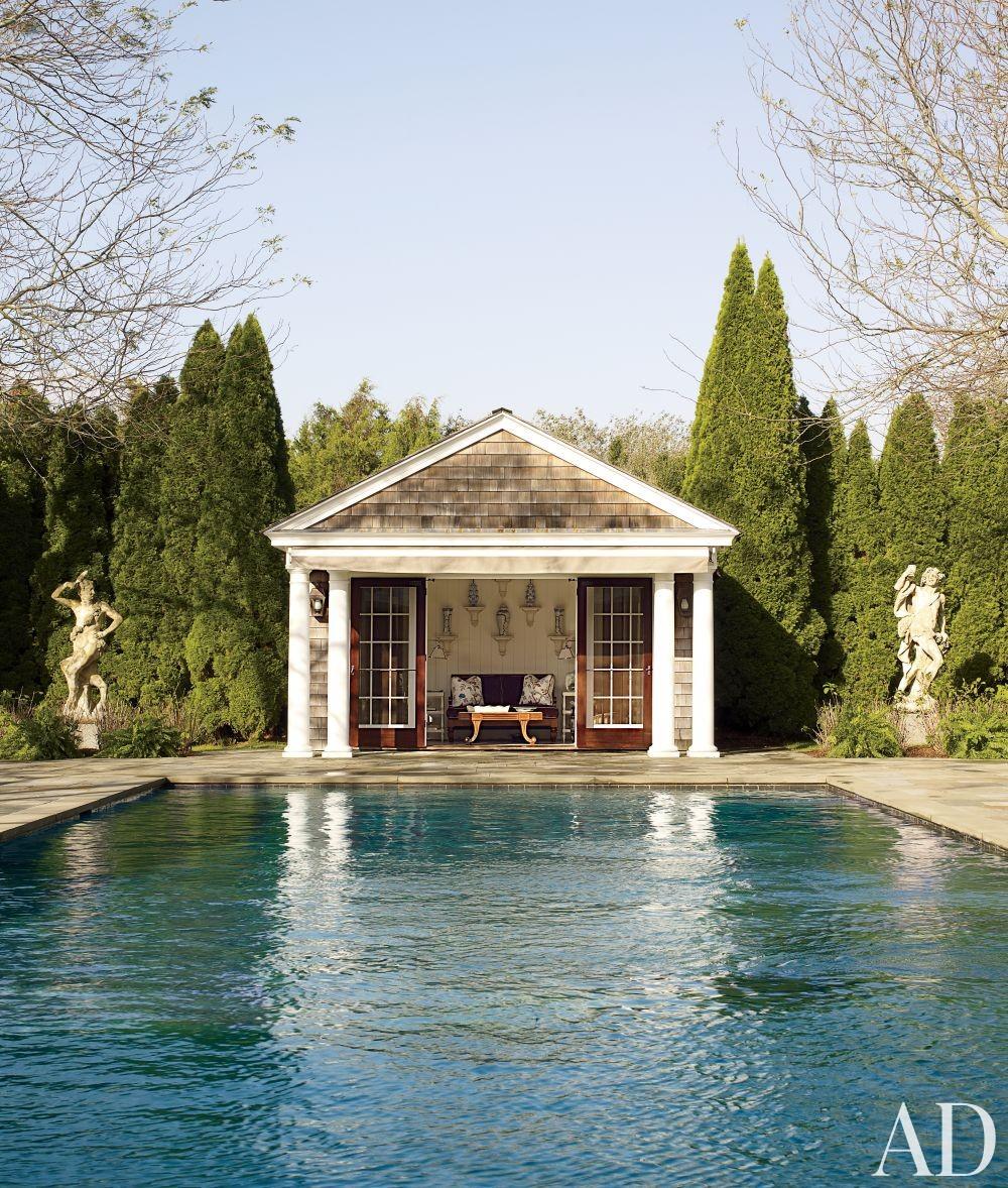 Traditional Pool by Alex Papachristidis in Bridgehampton, New York