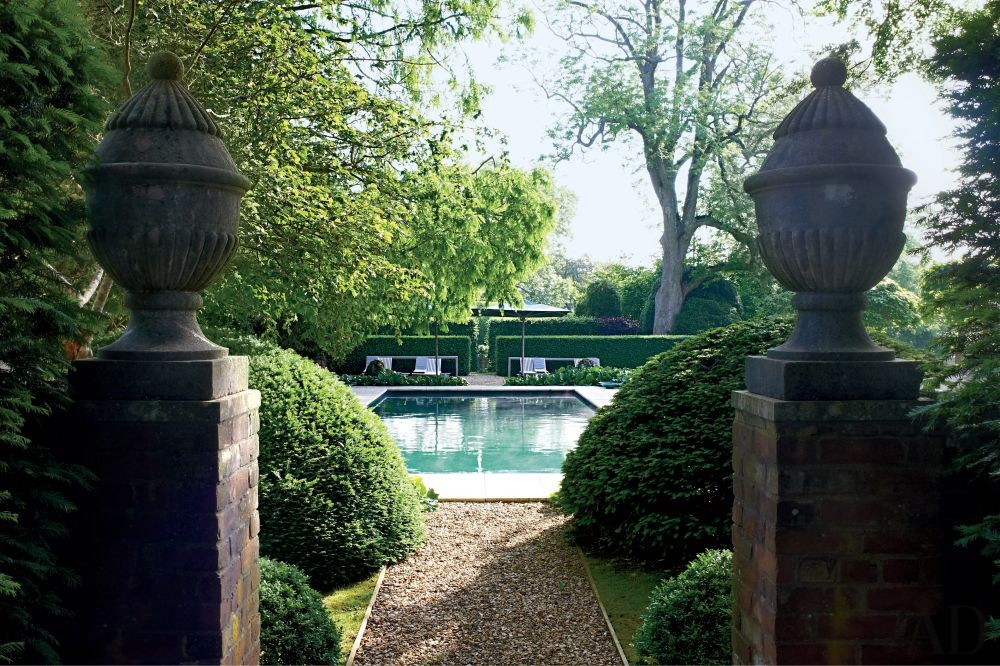 Traditional Pool by Anouska Hempel Design in Wiltshire, England