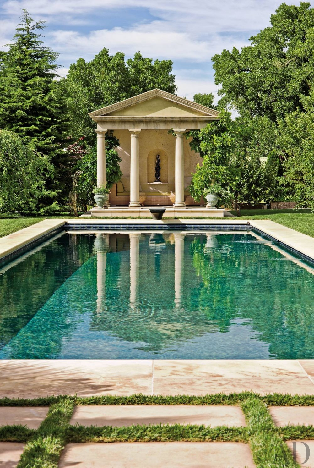 Architectural Digest Pool Designs: Traditional Pool By Edith Katz By Architectural Digest