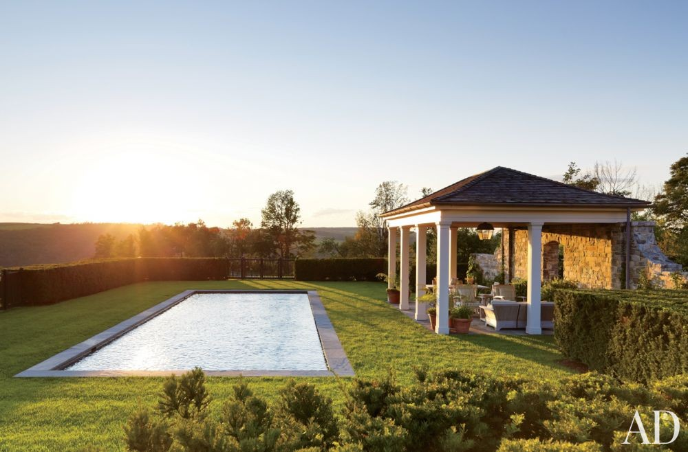 Traditional Pool by G. P. Schafer Architect in Dutchess County, New York