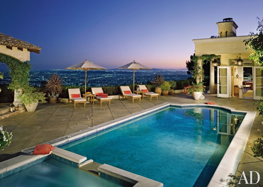 Traditional pool by mac ii by architectural digest ad for Pool design mac