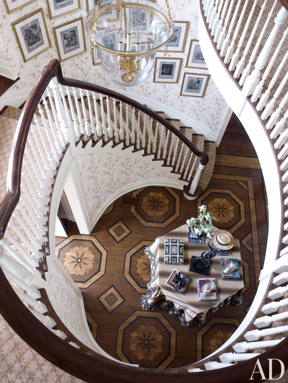 Traditional Staircase/Hallway by Alex Papachristidis in Bridgehampton, New York