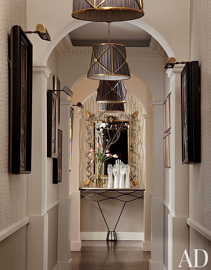 Traditional Staircase/Hallway by Jean-Louis Deniot in Chicago, Illinois