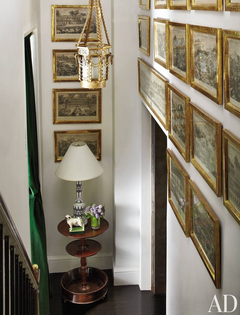 Traditional Staircase/Hallway by Jean-Paul Beaujard in New York, New York