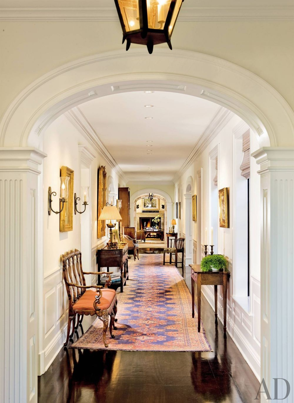 Traditional Staircase/Hallway by Lane-McCook & Associates and Appleton & Associates in Santa Barbara, California