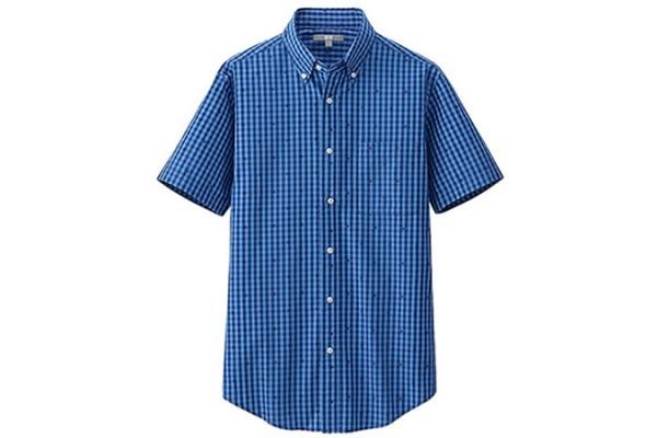 Uniqlo Geometric Printed Short Sleeve Shirt