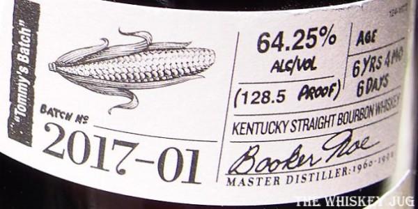 Booker's Bourbon Tommy's Batch Label