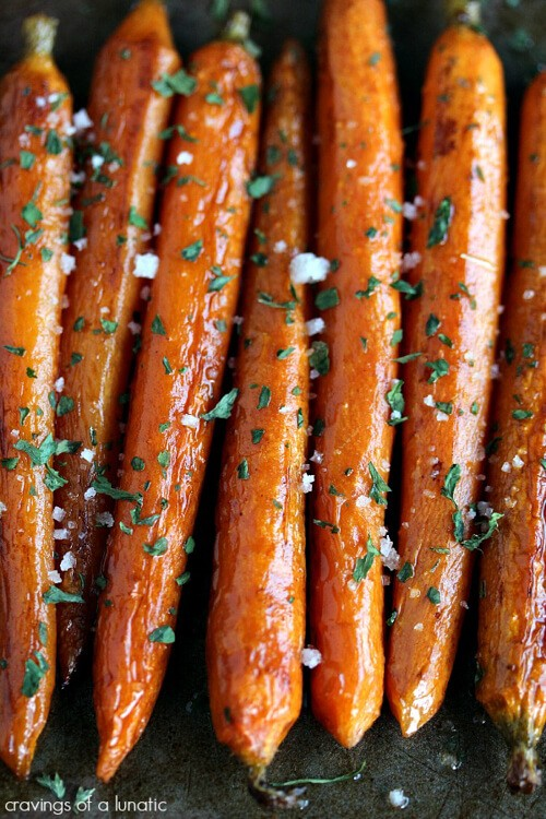 Balsamic Roasted Baby Carrots | Cravings of a Lunatic