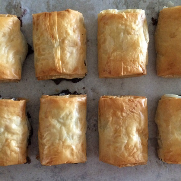 Mini Baked Brie and Blueberry Chutney Strudels