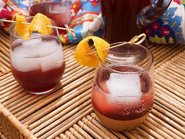 Sparkling Pomegranate and Cocchi Rosa Cocktails // stirandstrain.com
