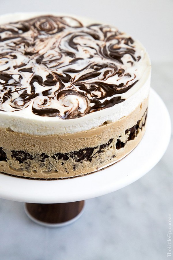 Coffee Ice Cream Cake | The Little Epicurean