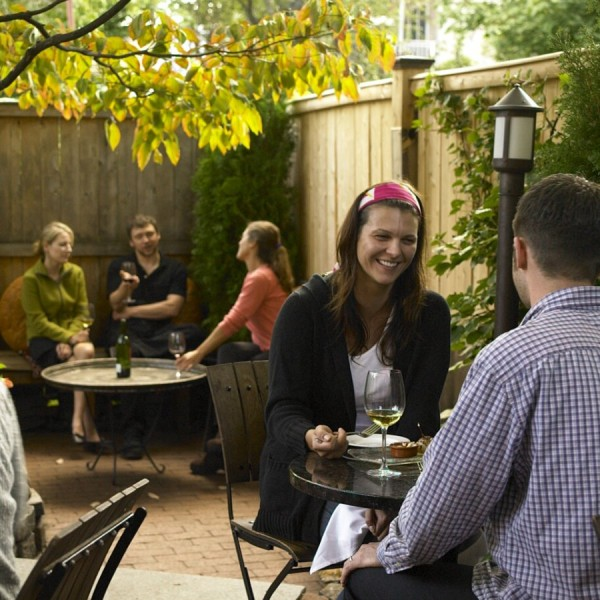Boston - Oleana - Mediterranean - Exterior - Patio with Guests