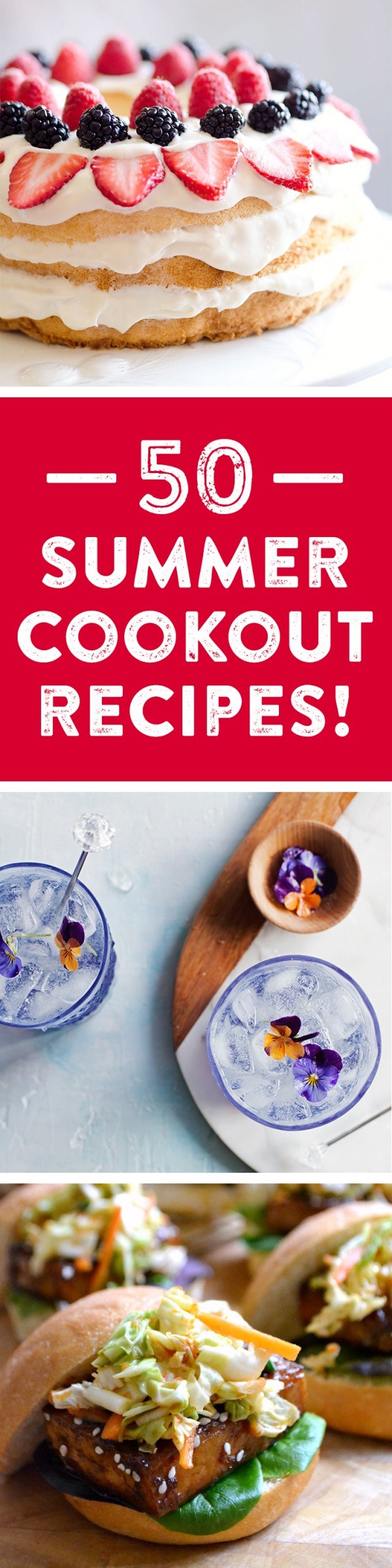 50 recipes for the perfect summer get-together! Whether you're planning a barbecue, picnic, or outdoor party, check out everything from appetizer recipes, entree recipes, cocktail recipes, dessert recipes, side dish recipes and more to go with your BBQ!