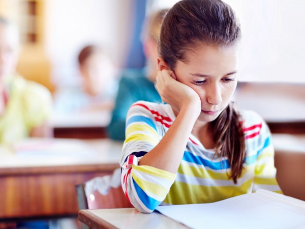 Sad Girl Reading
