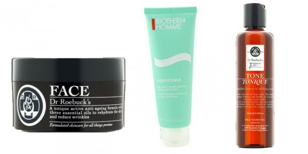 Basic Men's skincare products
