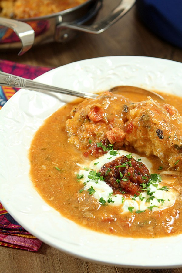 Spicy Tex-Mex Chicken Soup with Jalapeno and Cilantro Dumplings