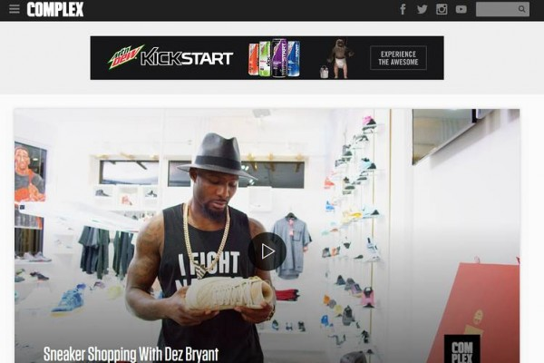 On Monday, the Complex Media website included a video on 'Sneaker Shopping With Dez Bryant.'