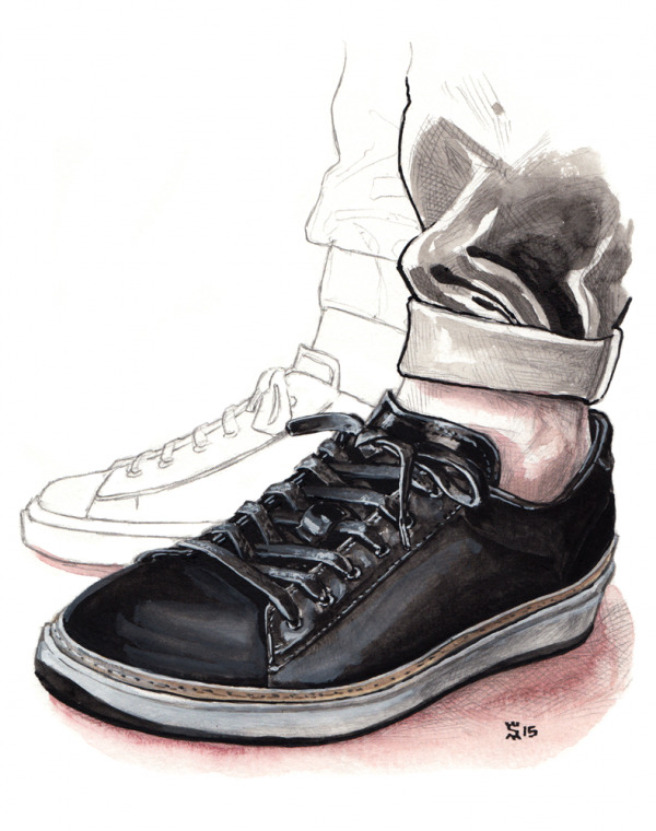 The 'Farley Black' sneaker from To Boot New York, by Adam Derrick.