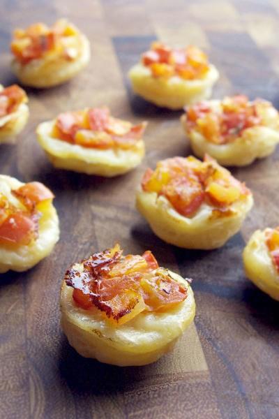 Upside Down Tomato Basil Tartlets