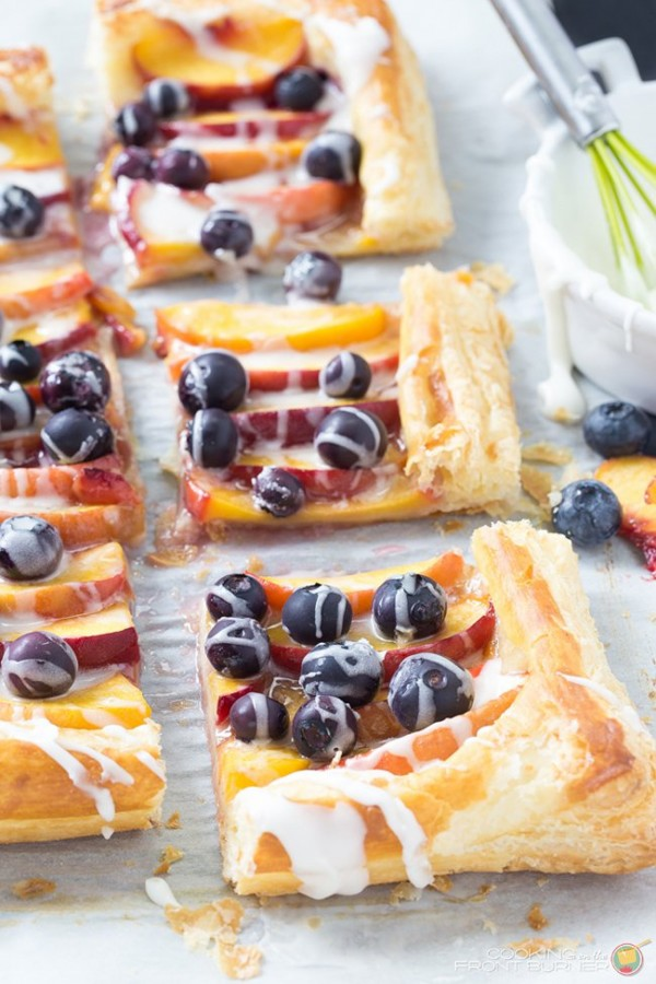 Fresh Peach and Blueberry Tart | Cooking on the Front Burner
