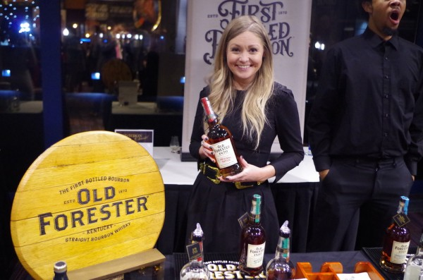 Cat Platz repping Old Forester at the Bourbon Classic 2018