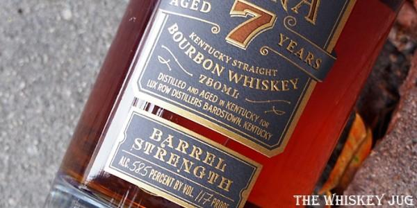 Old Ezra 7 Years Barrel Strength Bourbon Label