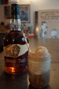 Boozy Root Beer Float with Buffalo Trace Bourbon