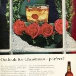 vintage holiday ad four roses bourbon