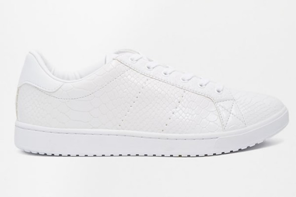 ASOS Trainers With Snakeskin Effect