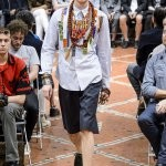 Junya Watanabe unveiled a highly creative collection that featured many strong colors and ethnic motifs. Reinterpreting the classic in a masterful manner is always a great thing to see on the runway.
