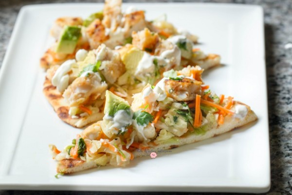 Grilled Pollack Flatbread Pizza9