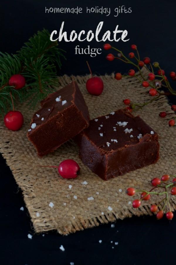 chcolate fudge - homemade holiday gift