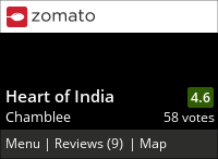 Heart of India Menu, Reviews, Photos, Location and Info - Zomato